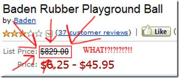 red rubber ball amazon list price