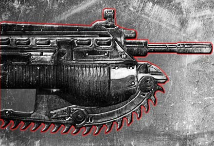gears of war lancer 10 25 of The Greatest Fictional Weapons Ever (Part 1)