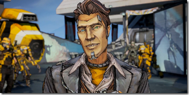 Handsome Jack voiced by Dameon Clarke
