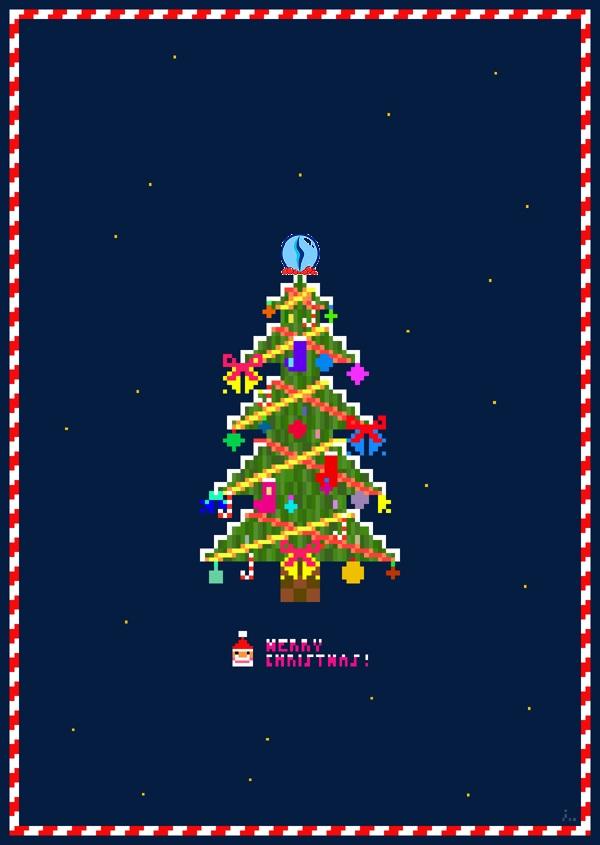 8 bit christmas tree