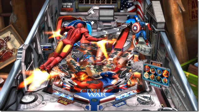 Civil War Battle thumb Marvel Civil War   Pinball FX2 table review