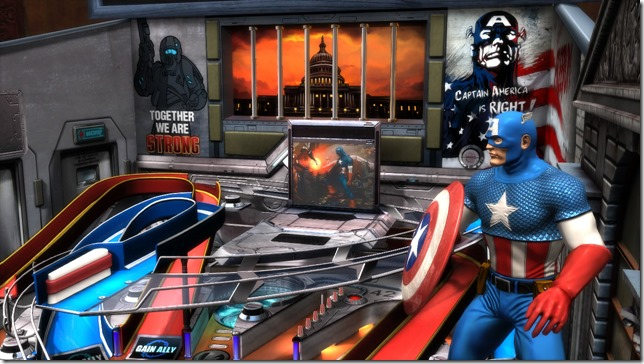 Civil War Captain America thumb Marvel Civil War   Pinball FX2 table review