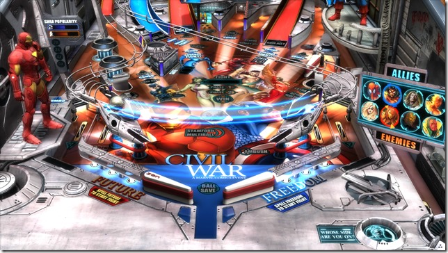 Civil War Playfield Zoom thumb Marvel Civil War   Pinball FX2 table review