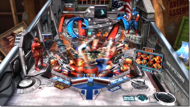 Civil War Table thumb Marvel Civil War   Pinball FX2 table review