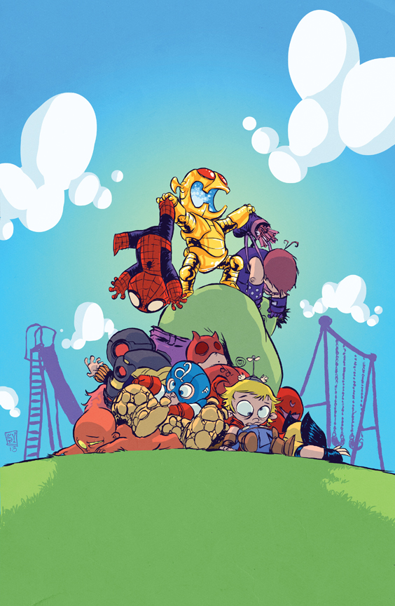 1359482244 Skottie Youngs Lil Ultron Owns the Avengers on the Playground