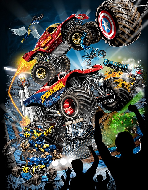 marvel poster Marvel Monster Trucks at Advance Auto Parts Monster Jam