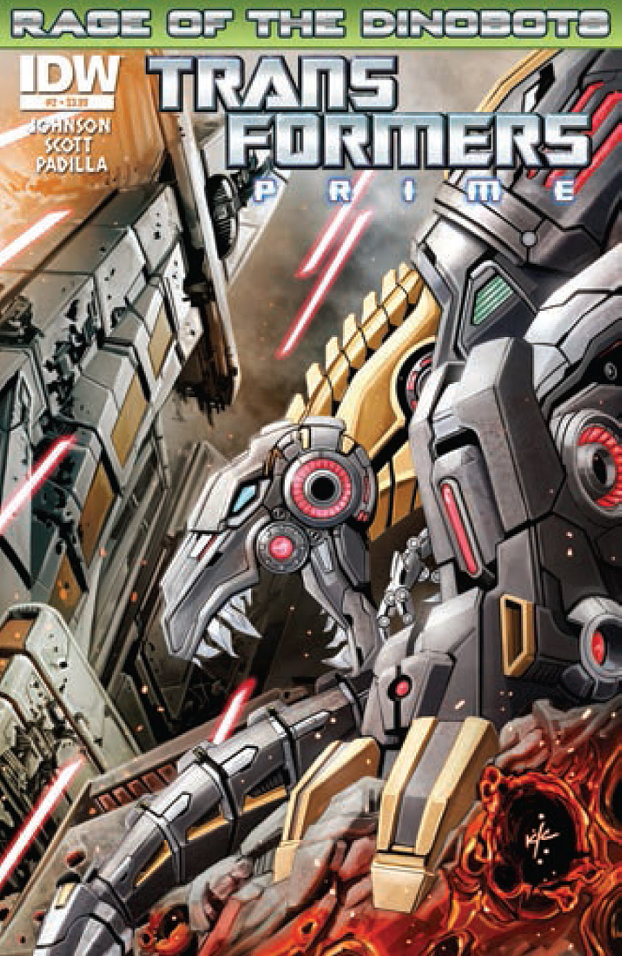 prv14716 cov IDW   Transformers: Prime   Rage of the Dinobots (Preview)