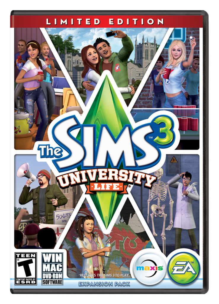 ts3 universitylife boxart 739x1024 University Life   The Newest Sims 3 Expansion Pack