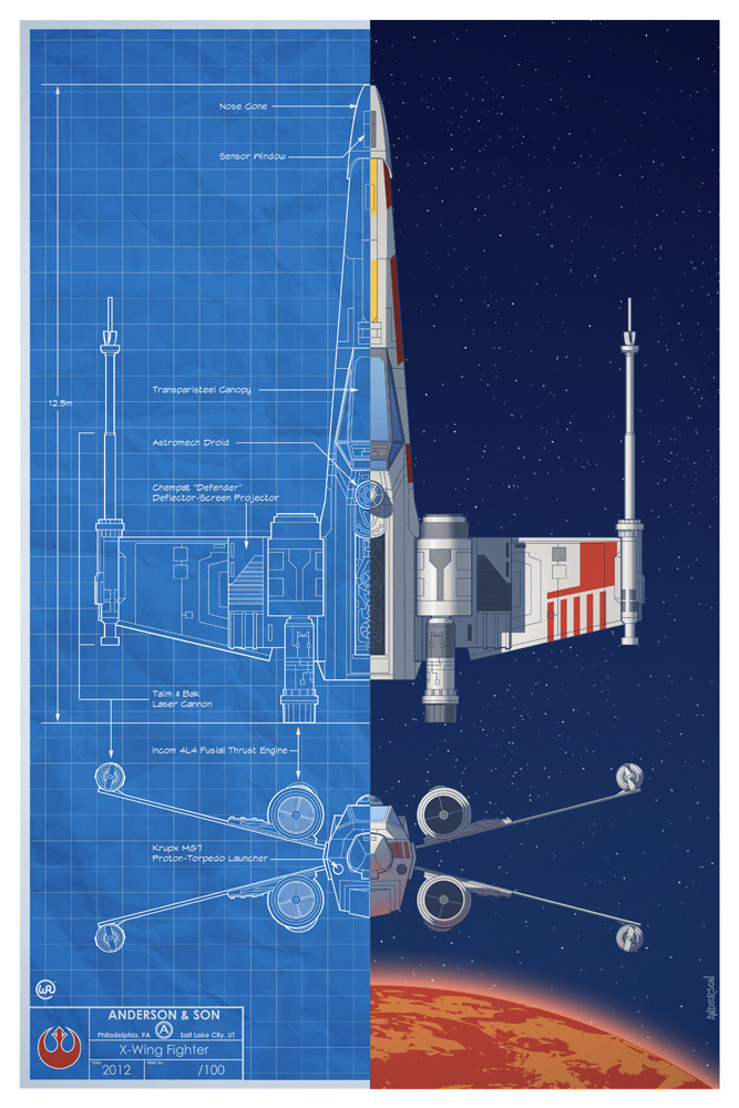 untitled2 Star Wars Schematic Illustrations from Will and Tim Anderson