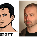 brett 150x150 The Real Models for the Characters of Archer