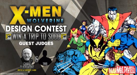 detail21 WeLoveFines X Men and Wolverine Tshirt Design Contest