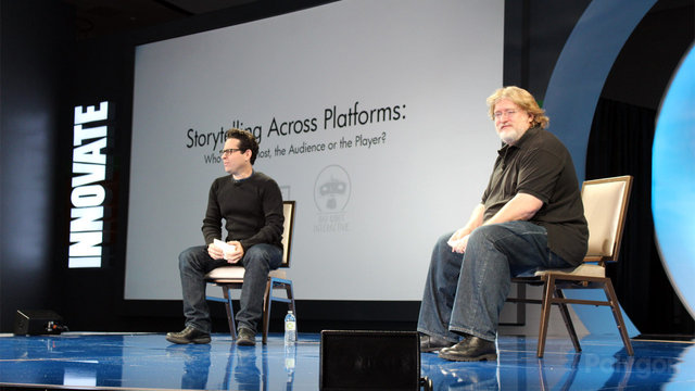 gabe newell jj abrams dice 2013 poly wm 1280 0 cinema 640 0 JJ Abrams and Gabe Newell Tease Big Things at the DICE Summit
