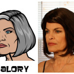 malory 150x150 The Real Models for the Characters of Archer