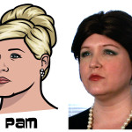 pam 150x150 The Real Models for the Characters of Archer