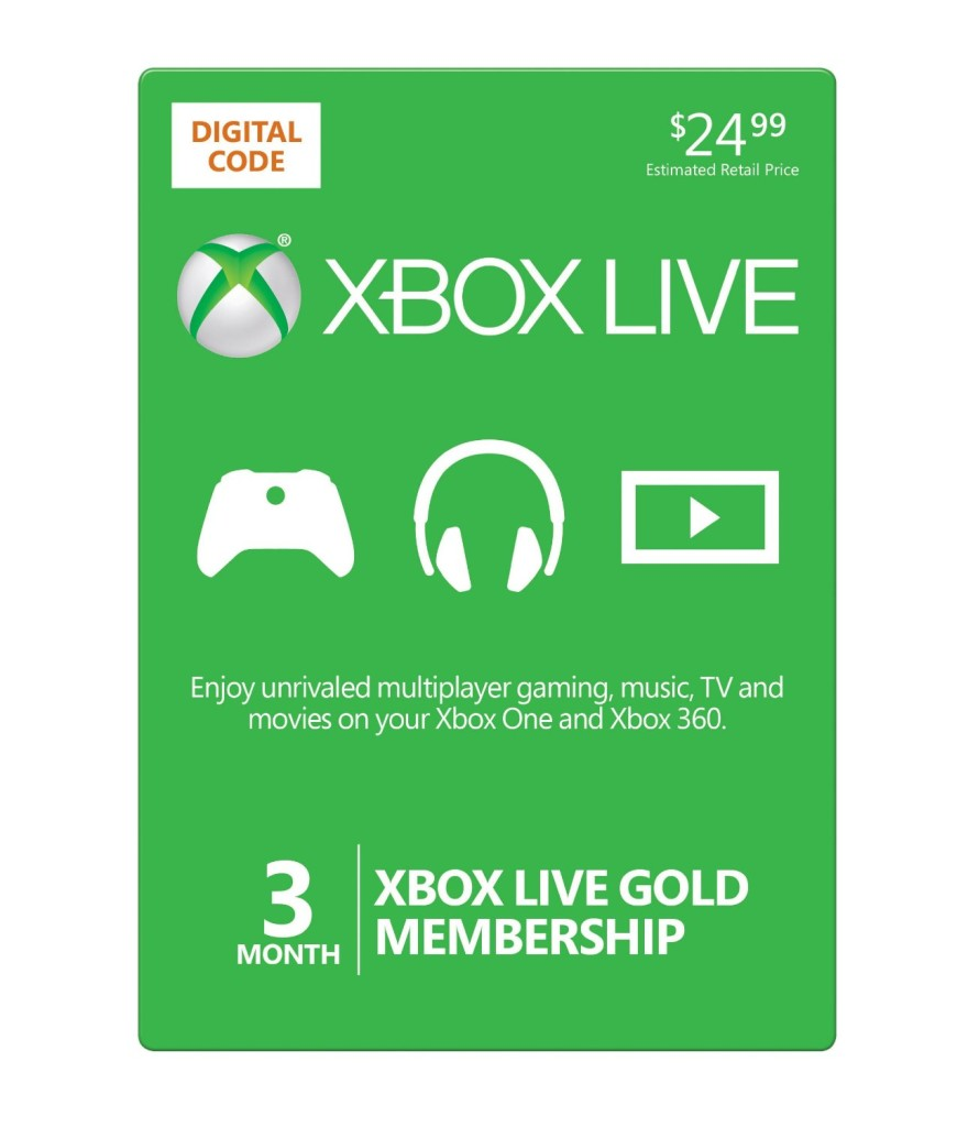 81mcC J7kgL. SL1500  880x1024 Amazon Deal: $10 off 3 Month Xbox Live Gold Card