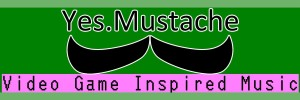 YesMustache logo for Twitter 300x100 Yes.Mustache is music inspired by Video Games